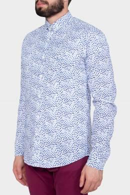 Рубашка с синим принтом Paul & Shark 2321183798