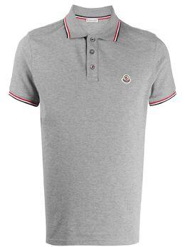 Moncler рубашка-поло с окантовкой в рубчик 8A7030084556