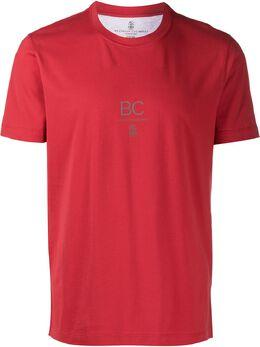 Brunello Cucinelli футболка с круглым вырезом и надписью M0T611110CC619