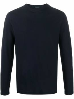 Zanone long-sleeved cotton T-shirt 811822Z0380