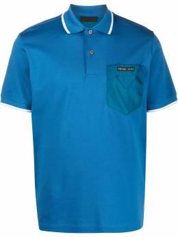 Prada рубашка-поло с контрастным карманом UJN617S2011VT8
