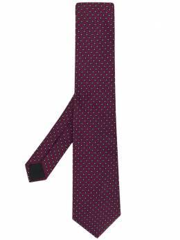 Lanvin галстук с геометричным узором 25195