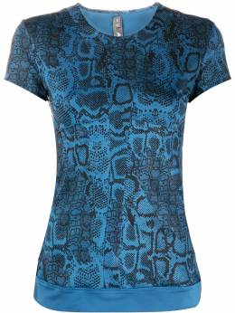 Adidas by Stella McCartney футболка со змеиным принтом FK8910TRTEEPBLUE