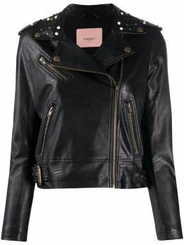 Twin-Set байкерская куртка с заклепками 201TP241A