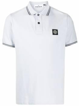 Stone Island рубашка-поло с нашивкой-логотипом MO101522S18