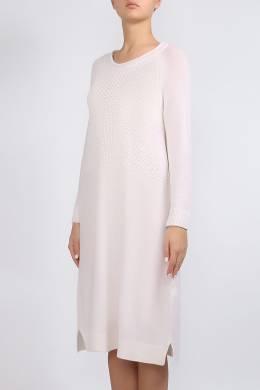 Белое трикотажное платье Lorena Antoniazzi 2136183467