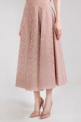Пудровая юбка с кружевом Rochas 184183479