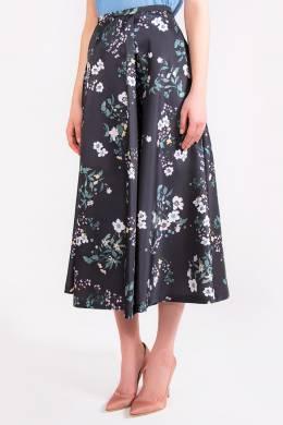 Темно–синяя юбка с узором Rochas 184183481