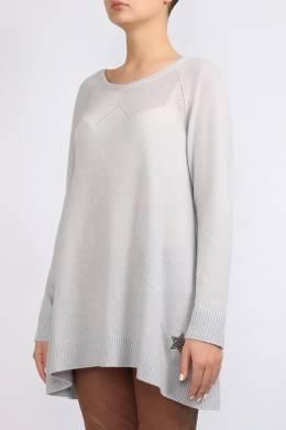 Светло–серый расклешенный джемпер Lorena Antoniazzi 2136183466