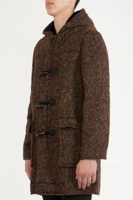 Черно–коричневое пальто с капюшоном The Marc Jacobs 167183457