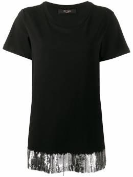 Twin-Set футболка с вышивкой на подоле 201MP2352