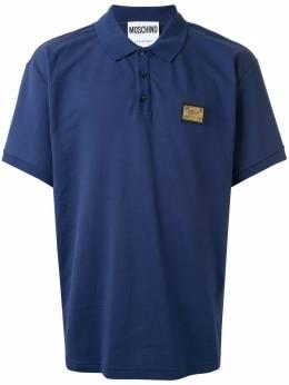 Moschino рубашка-поло с логотипом A12042042