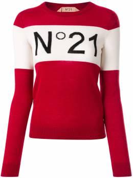 No. 21 джемпер с полосками и логотипом 20EN2P0A0087011
