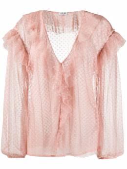 Liu Jo блузка с оборками в горох WA0394J5925