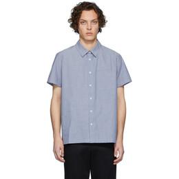 A.P.C. Blue Bruce Short Sleeve Shirt COECE-H12436