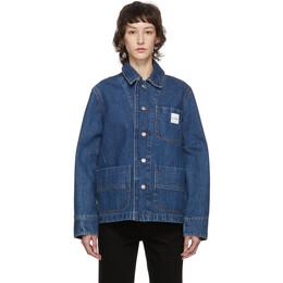 A.P.C. Indigo Carhartt WIP Edition Talk Denim Jacket COEDZ-F02612