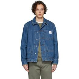 A.P.C. Indigo Carhartt WIP Edition Talk Denim Jacket COEDZ-H02611