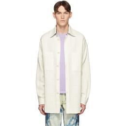 Faith Connexion White Tweed Over Shirt X1819T00543