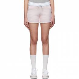 Thom Browne Pink and White Striped Shorts FJQ030A-06449