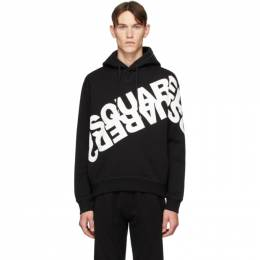 Dsquared2 Black Mirrored Logo Hoodie S74GU0392 S25042