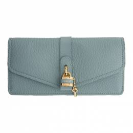 Chloe Blue Aby Long Continental Wallet CHC19WP310B71