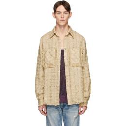 Faith Connexion SSENSE Exclusive Beige Tweed Shirt X1820T00552