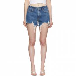 Grlfrnd Blue Denim Helena Shorts GF40768501348