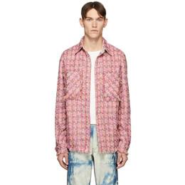 Faith Connexion SSENSE Exclusive Pink Tweed Shirt X1820T00554