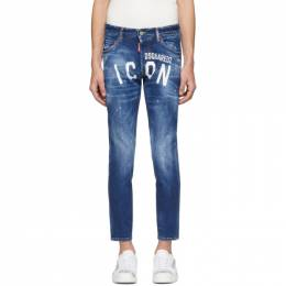 Dsquared2 Blue Skinny Dan Jeans S79LA0001 S30663