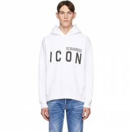 Dsquared2 White Cool Fit Icon Hoodie S79GU0002 S25042