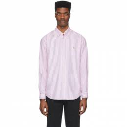 Polo Ralph Lauren Pink and White Striped Oxford Shirt 710776781012