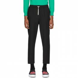 Kenzo Black Tapered Cropped Trousers FA55PA2151RB