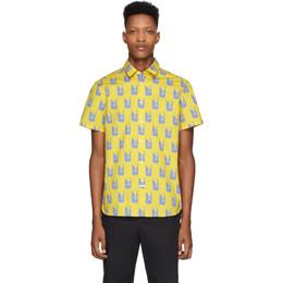 Kenzo Yellow and Purple Shrimp Shirt FA55CH5201LJ