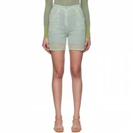Jacquemus Blue and Green Le Short Lavandou Shorts 201PA10-201 27244