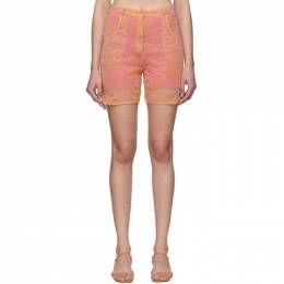 Jacquemus Pink and Orange Le Short Lavandou Shorts 201PA10-201 27754