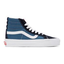 Vans Blue and Navy OG Sk8-Hi LX Sneakers VN0A4BVB5OC