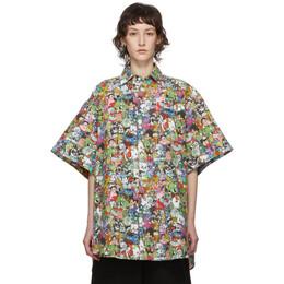 Vetements Multicolor Vetemonster Short Sleeve Shirt SS20SH284