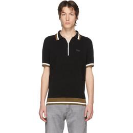Hugo Black Knit Polo 50422941