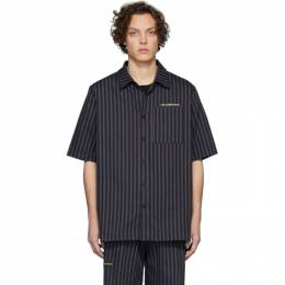 Han Kjobenhavn Navy Striped Boxy Shirt M-130042