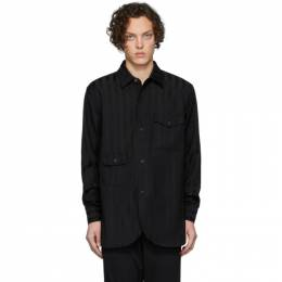 Han Kjobenhavn Black Striped Army Shirt M-130031