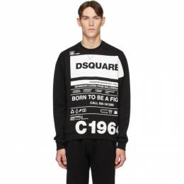 Dsquared2 Black Cool Fit Logo Graphic Sweatshirt S74GU0410 S25042