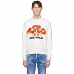 Dsquared2 White Mouse Cool Fit Sweatshirt S74GU0393 S25042
