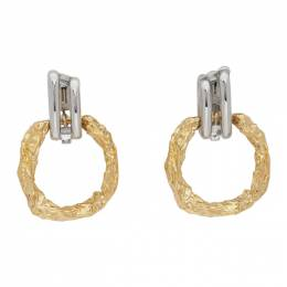 Chloe Silver and Gold Anouck Earrings CHC20SFE36CB7