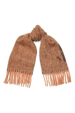 Коричневый шарф с логотипом Erika Cavallini 1770184236