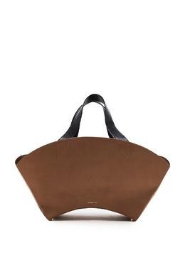Бежевая кожаная сумка Rejina Pyo 2953184320