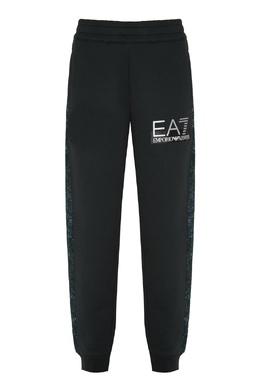 Трикотажные брюки с лампасами Emporio Armani 2706184033
