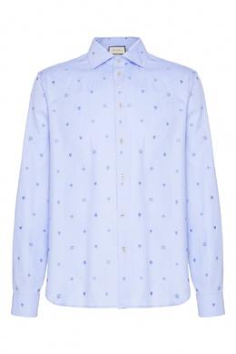 Хлопковая сорочка с узором филькупе Gucci 470184380