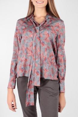 Блуза с принтом и завязками Escada Sport 2819184436