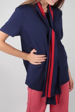 Синяя блуза с шарфом Escada Sport 2819184460