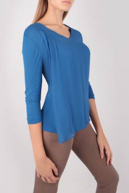 Синяя блуза с прозрачной деталью Escada Sport 2819184464